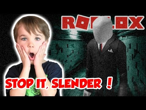 RUN FROM SCARY SLENDER MAN!  STOP IT, SLENDER 2!  SURVIVE THE HORROR NIGHT in ROBLOX!
