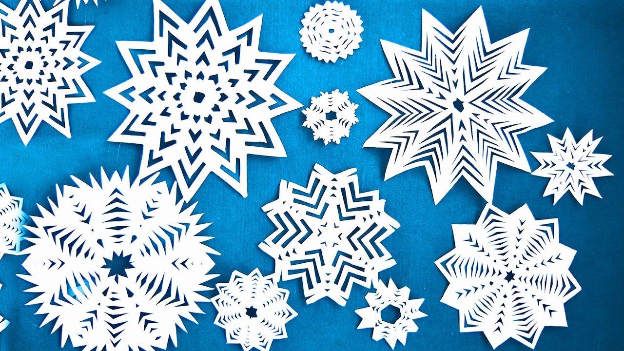 Несложные снежинки из бумаги своими руками фото 465