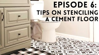 Tips For Stenciling Tiles On A Cement Floor
