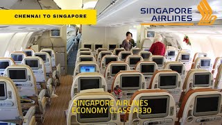Singapore Airlines Economy class Experience Chennai to Singapore | Food menu in tamil!!!