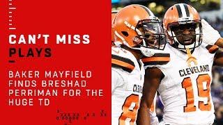 Baker Mayfield Finds Breshad Perriman for the Huge TD!