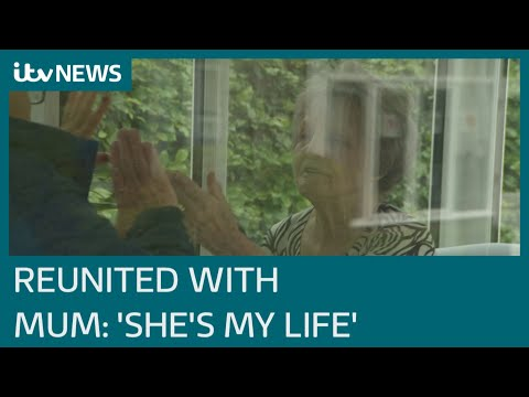 Coronavirus: First family reunions in care homes with socially distanced solution | ITV News