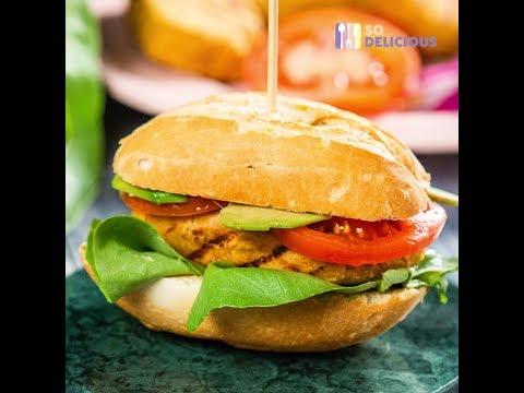 Burger vegetarian cu năut și ovăz