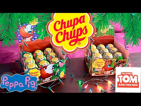 Чупа Чупс шоколадные яйца - Том и друзья, Пеппа Chupa Chups kinder surprise - Talking Tom