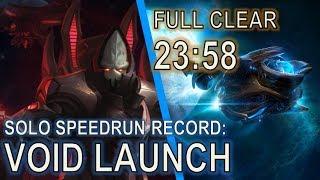 Starcraft II: Alarak Void Launch SOLO Speedrun Record [23:58]