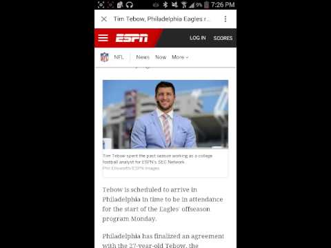 Tim Tebow reaches deal with Philadelphia Eagles