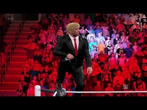 ĐÁNH BẠI DONALD TRUMP TRONG WWE!!!!!!!!