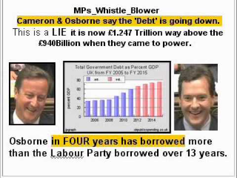 Osborne MP Cameron MP UK Debt Deficit