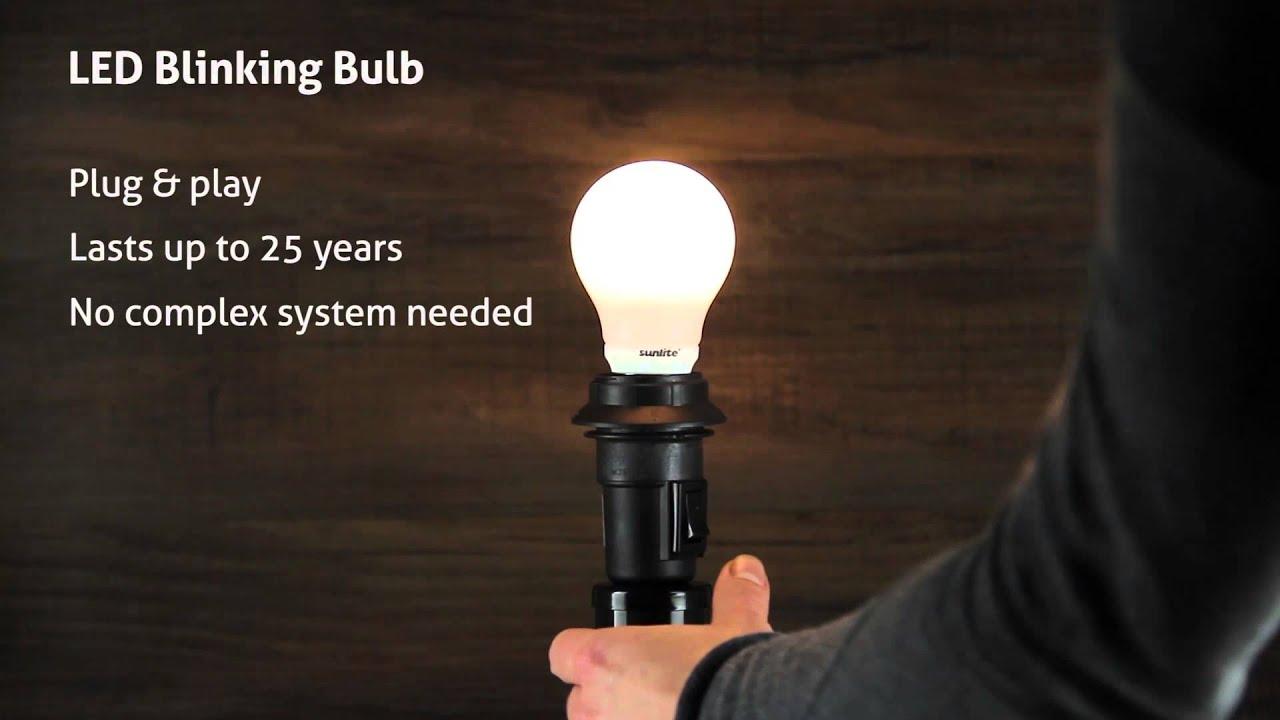 3000K Warm White Base E26 Sunlite A19//5W//BL//WW LED A19 Blinker Light Bulb 5W Medium