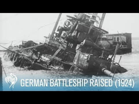 German Battleship Raised (1924)