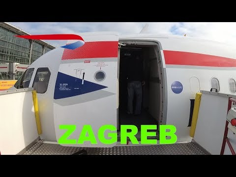 British Airways Business class (Club Europe) to Zagreb flight review from Heathrow, Airbus A320
