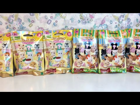 Calico Critters Blind Bags Baby Birthday Party & Shopping Series Sylvanian Families Toy Opening & Re