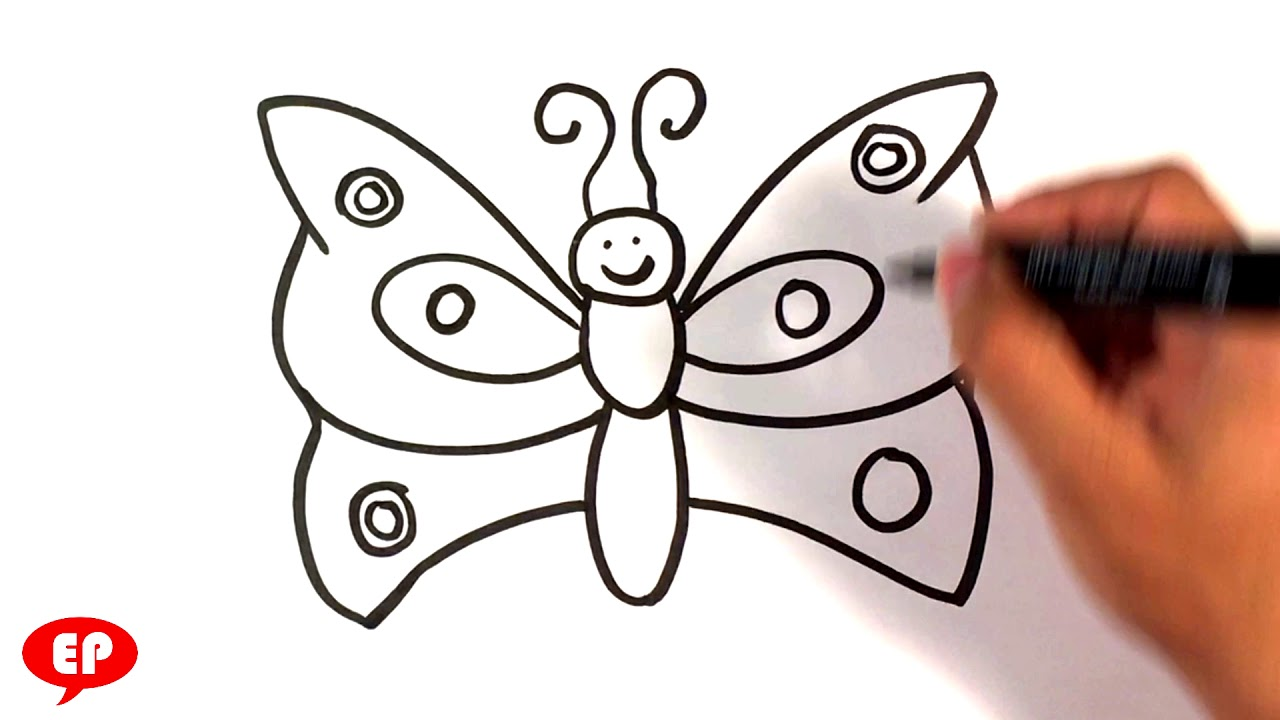 How To Draw A Butterfly Easy Pictures To Draw Youtube