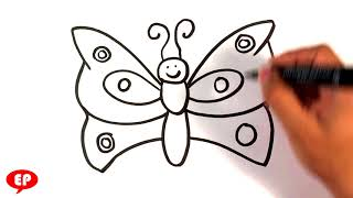 How to Draw a Butterfly - Easy Pictures to Draw