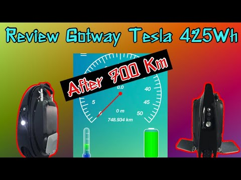 Review Gotway Tesla 425Wh after 700km