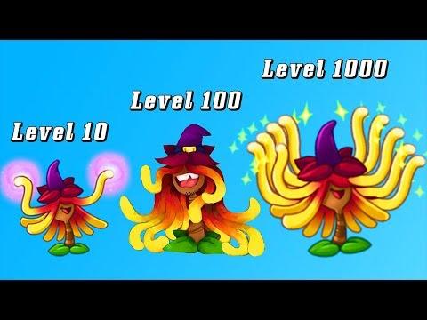 Plants vs Zombies 2 Mod: WITCH HAZEL LEVEL 10-100-1000 vs GARGANTUAR FIGHT!