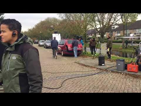 Opnames speelfilm met Benja Bruijning in Woerden