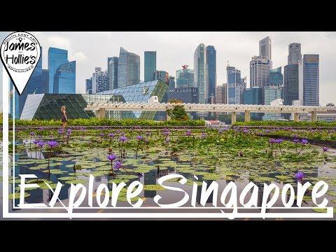 EXPLORE SINGAPORE - marina bay sands, Merlion Park, flyer, F1 | Barbster360 Travel Vlog