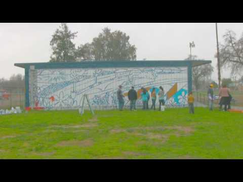 The Laton Elementary School Garden Mural