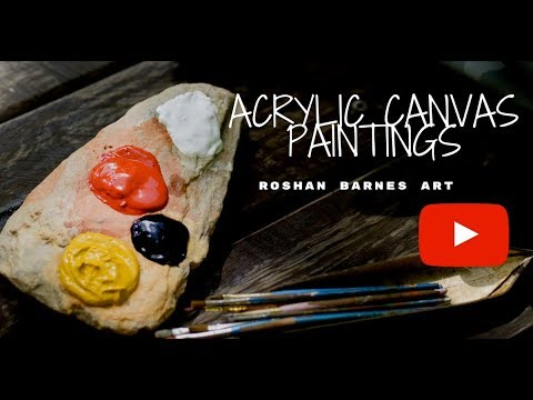 Acrylic Canvas Paintings | Sketches | Roshan Barnes Art
