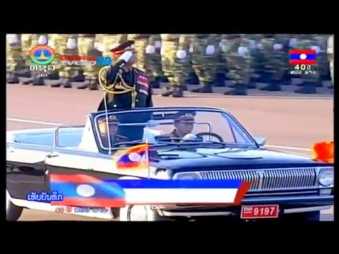 Parade and Fireworks for 40 years of Lao National Day 2/12/2015