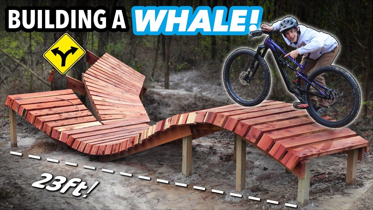 Building a full-size Wooden Whale in my Backyard Bike Park! // Subscriber Trail pt. 10