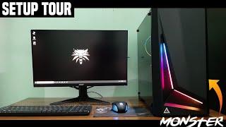 My Setup Tour 2019 🔥Version 1.O 🔥[Monster PC + Full Desk] 15 year old's Setup