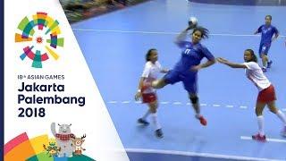 [ครึ่งหลัง] แฮนด์บอลหญิง ระหว่าง ไทย  Vs อินโดนีเซีย | เอเชียนเกมส์ 2018