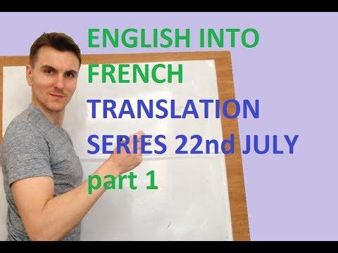 English To French Free Translation Exercises... Using ING Part 1