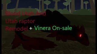 Roblox Dino's World | Blood Utah and Utah Raptor Remodel + Vinera on-sale |