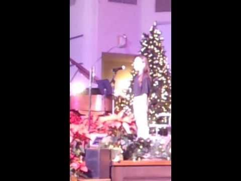 Katie singing O Holy Night