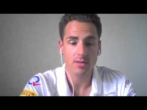 Adrian Sutil and the F1 tests
