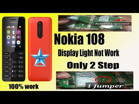 Nokia 108 Display Light Jumper || Nokia Rm 944 Display Light Solution