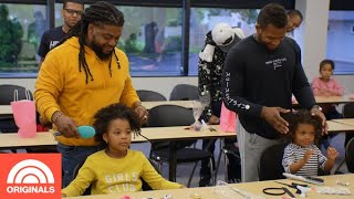NFL Player Matthew Cherry & Dads Learn How To Do Hair | Dads Got This! | TODAY Originals
