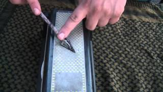 TGO How To Sharpen a 3-Blade Hunting Broad-Head!