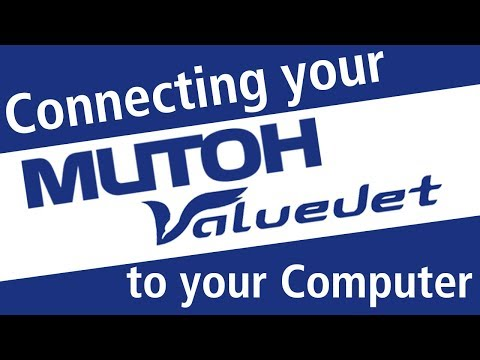 How To Connect Your Mutoh Printer To Your Computer With Network Settings