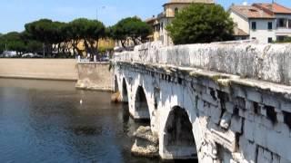 Tiberius Bridge Rimini Italy Римини Мост Тиберия(Достопримечательности Римини. Мост Тиберия. Строительство моста было начато в 14 г. н. э. при правлении..., 2013-10-05T18:45:33.000Z)