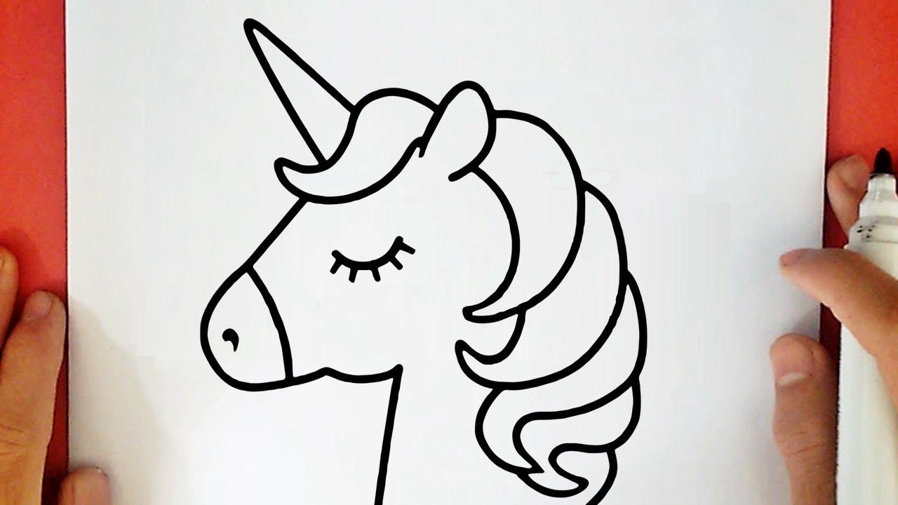 Como desenhar um unic rnio kawaii youtube - Dessin licorne kawaii ...