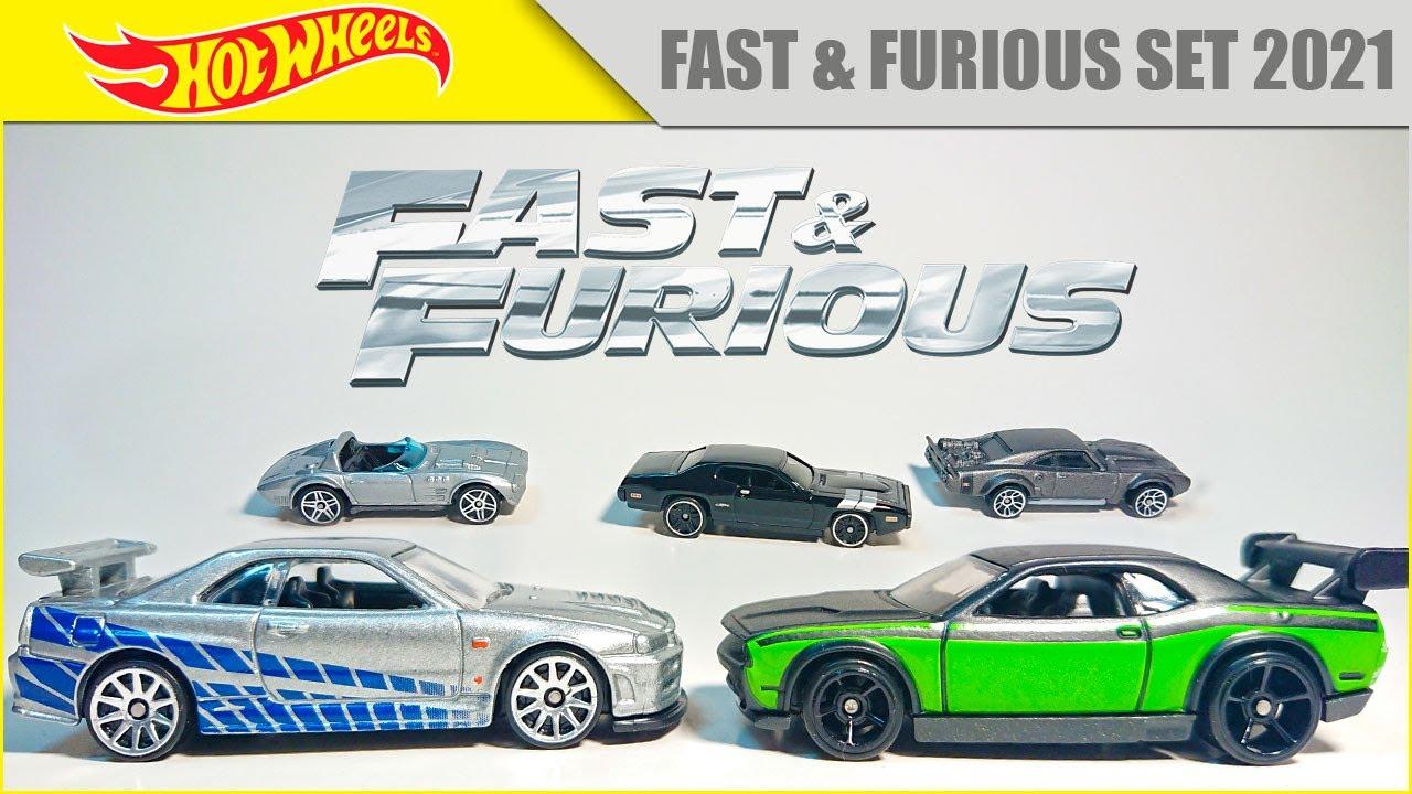 Набор машинок Хот Вилс по фильму Форсаж   Hot Wheels Fast and Furious Set 2021   Mattel