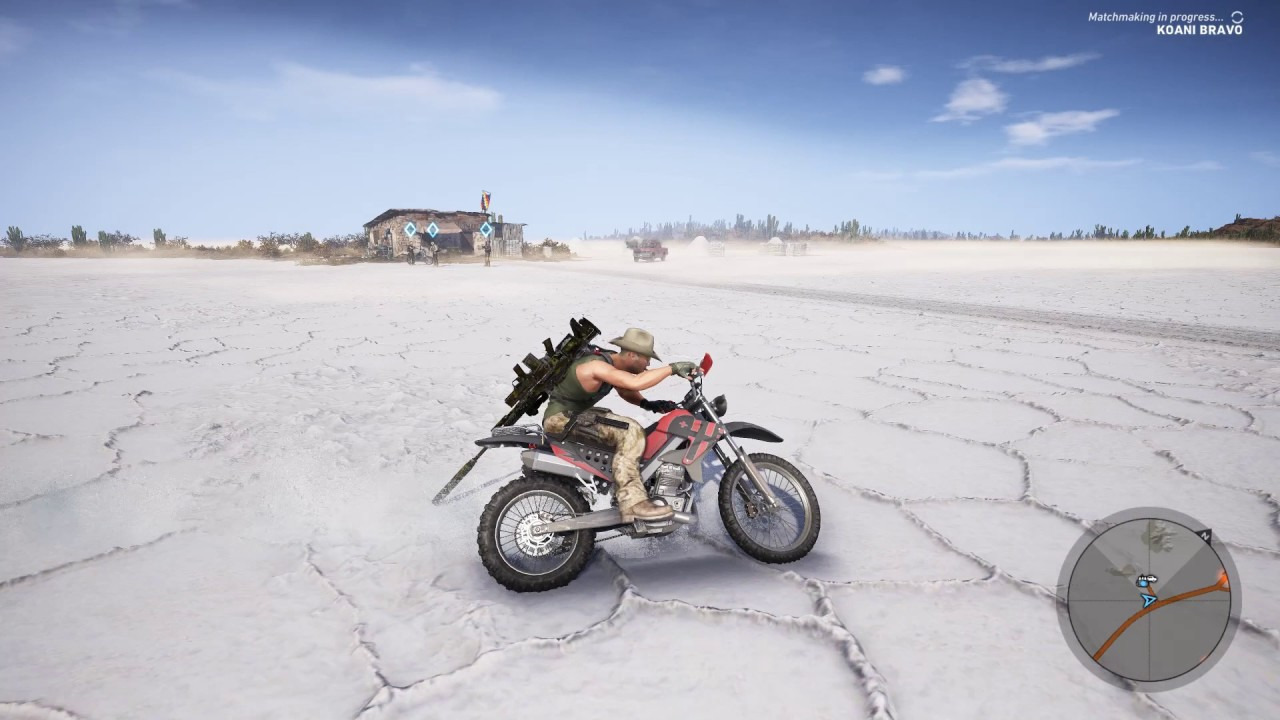 Ghost Recon Wildlands Bike On Salt Flats Youtube