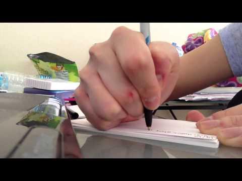 [ASMR]  Doing my homework & Whispering