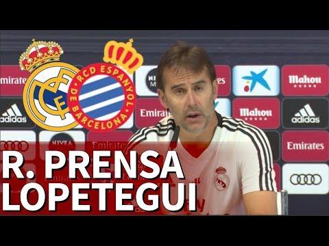 Real Madrid - Espanyol Rueda de prensa de Lopetegui I Diario AS
