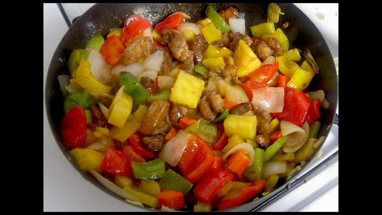 Como hacer pollo agridulce comida china sweet and sour for Preparar comida