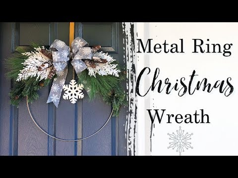 Metal Ring Christmas Wreath | Christmas Wreath | Christmas DIY