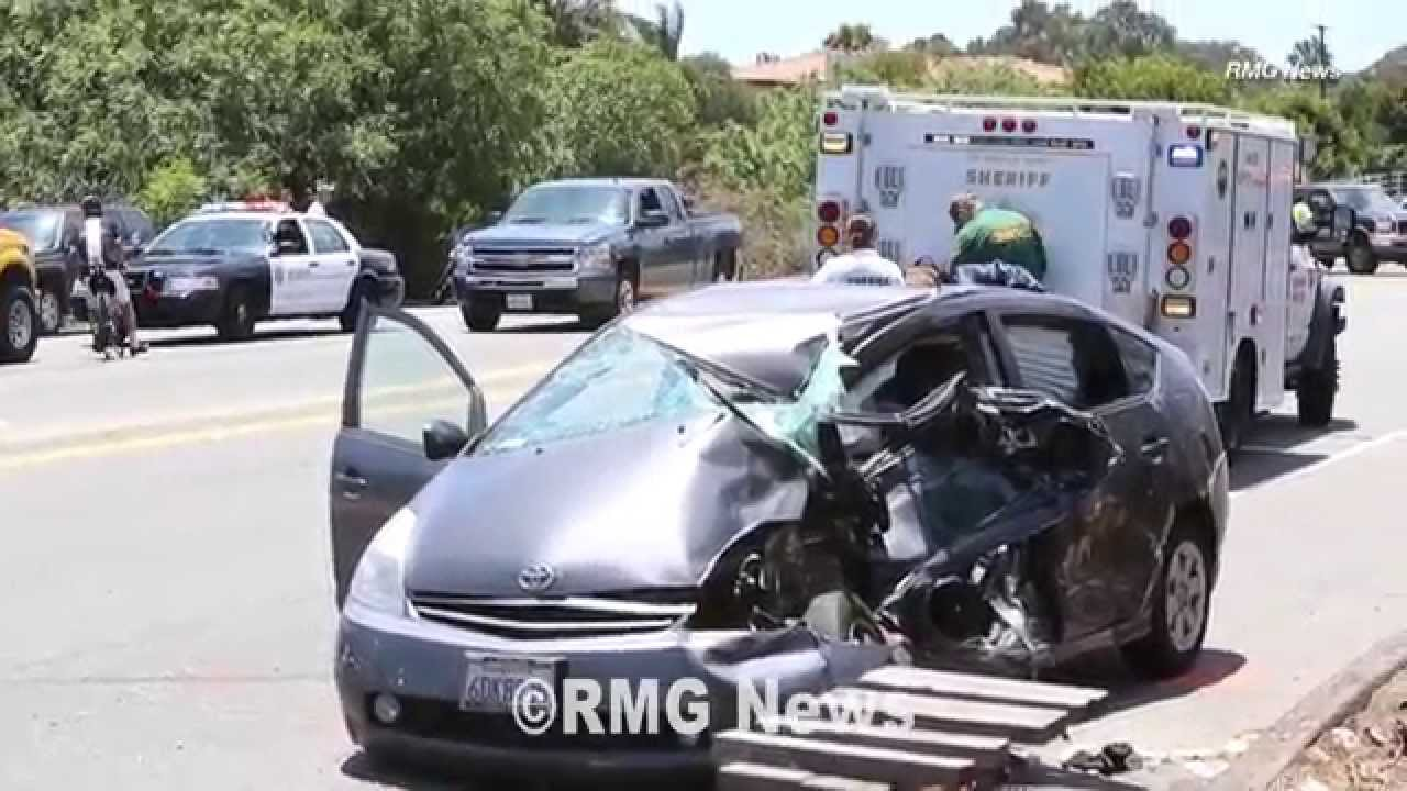 Prius And Fire Truck Involved In A Crash On Pacific Coast Highway Malibu California You
