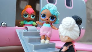 LOL SURPRISE DOLLS Where Should They Go On Vacation? New Lori Airplane