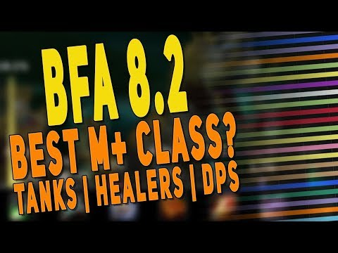 BfA 8.2 BEST CLASS FOR MYTHIC+ PREDICTIONS (Tanks | DPS | Healers) - Mythic Plus Top Spec | WoW 8.2