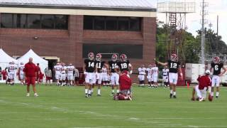 Alabama Quarterback Jacob Coker Throws at Practice: August 19th, 2015