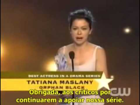 [LEGENDADO] Tatiana Maslany Speech - Critics' Choice Television Awards 2014