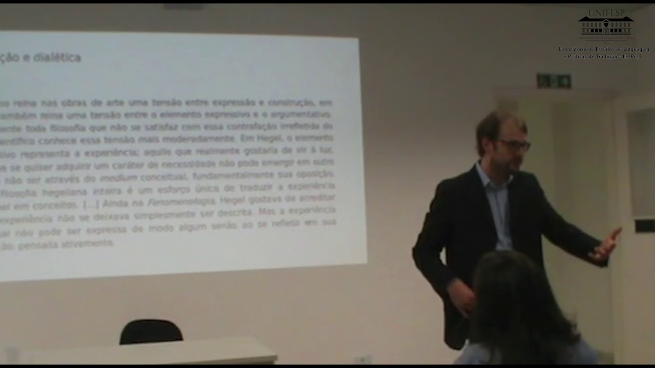 """Minicurso: """"Tradução e dialética"""" com Giovanni Zanotti (dia 2)"""
